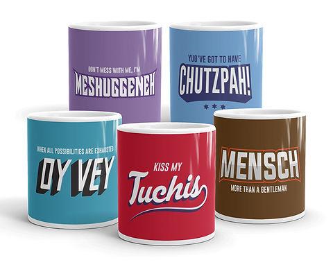Yiddish Mugs - The Complete Set