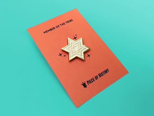 Star of David Enamel Pin