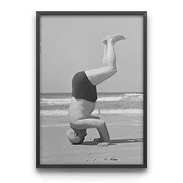 Ben-Gurion doing a headstand