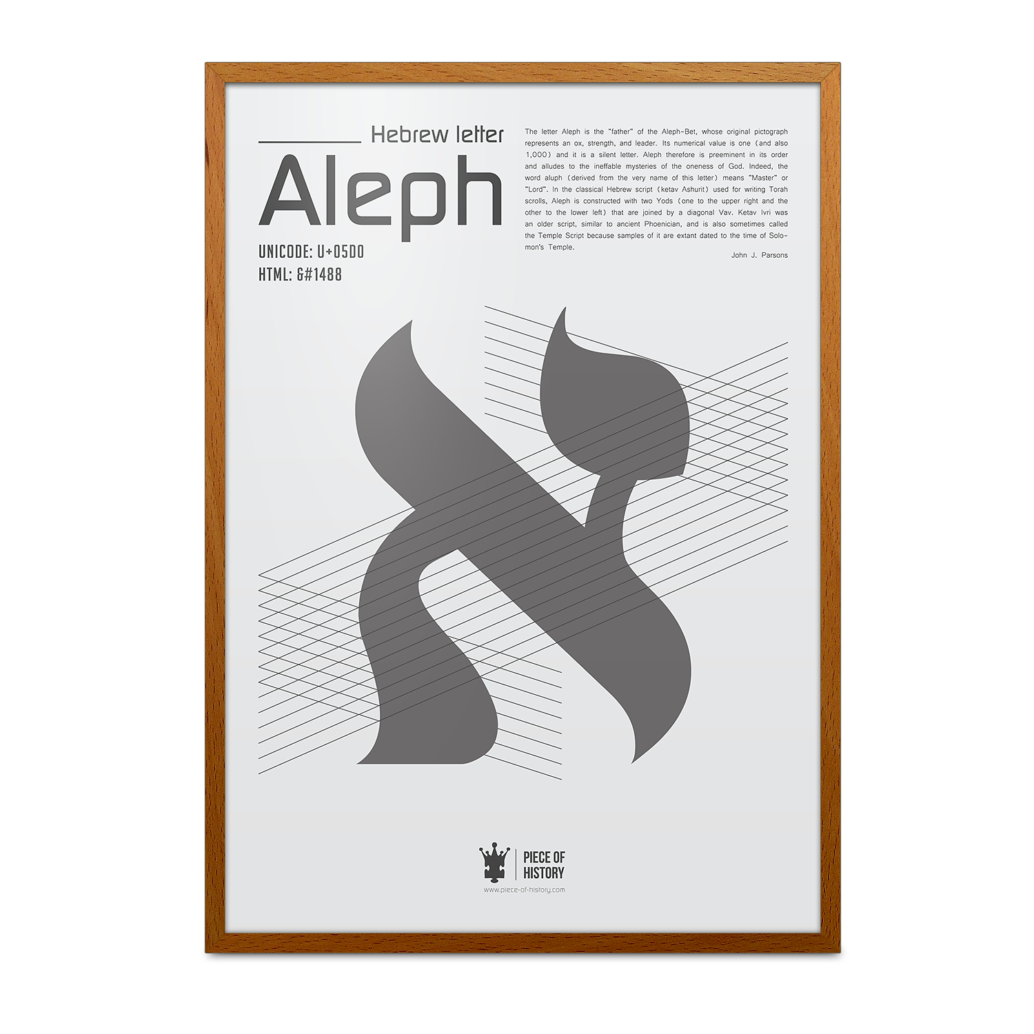 1488 meaning - Aleph A Unique Print From Piece Of History S New Hebrew Typography Series Featuring A Description Of The Ancient Letter S Origin And Meaning