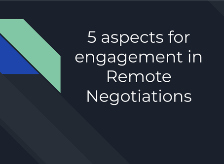 It's time for remote negotiations