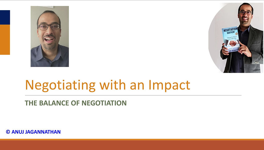 Negotiating with an impact