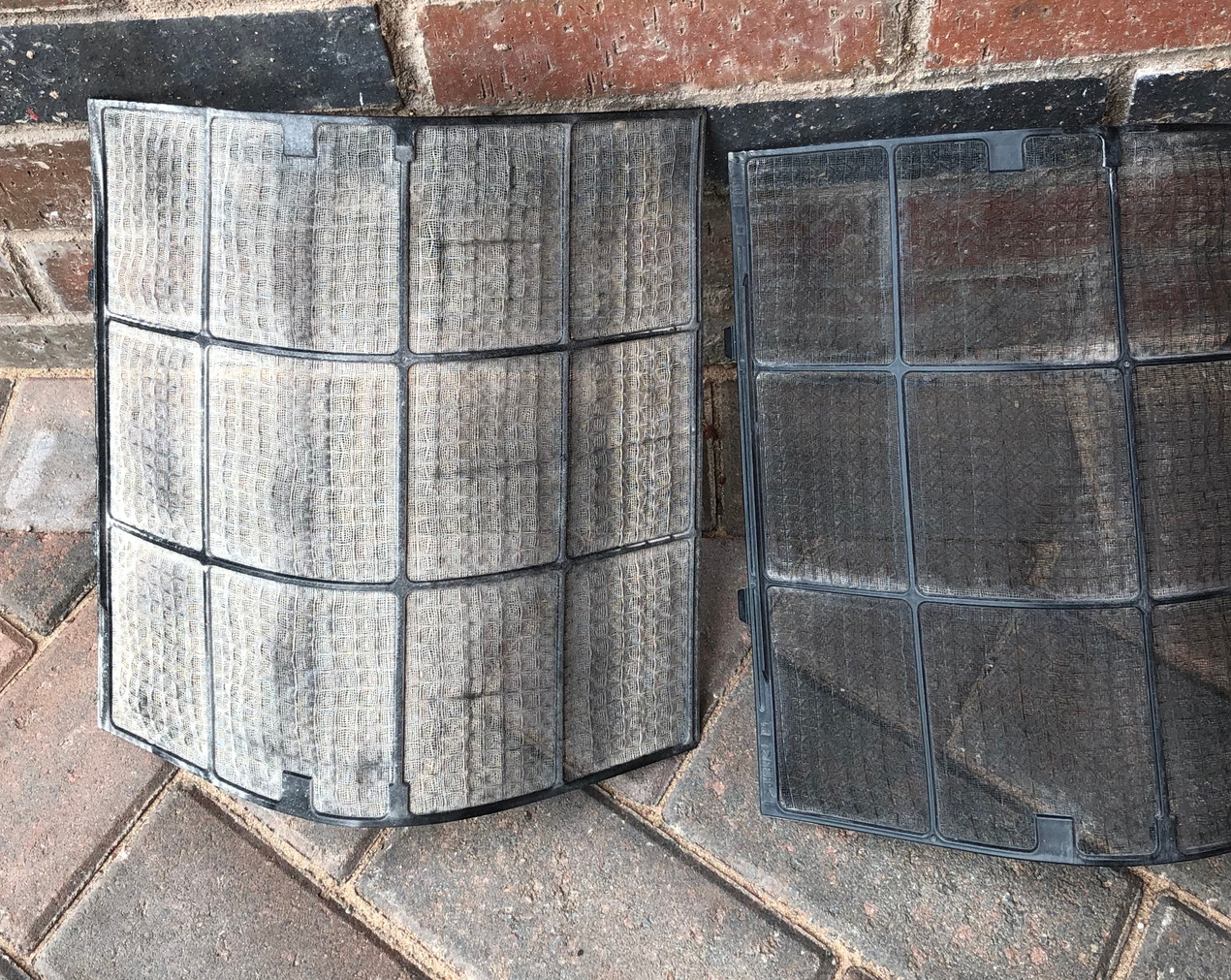 High Wall Air con filters before and after