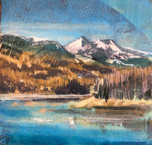 """Shadow Mountain Lake"" 2 x 2"