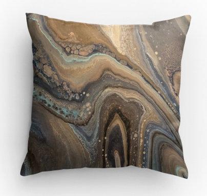 Mocha Decorative Print Pillow