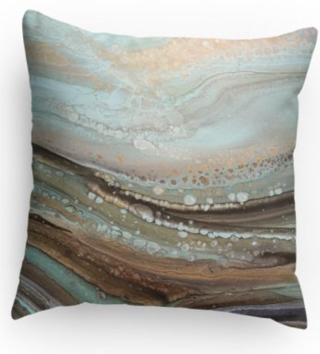 Serene Decorative Print Pillow