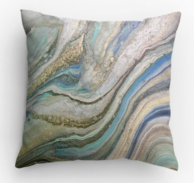 Iridescent Decorative Print Pillow