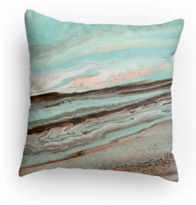 Blue Skies Decorative Print Pillow