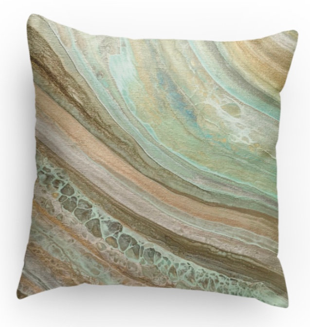 Opal Tide Decorative Pillow Print