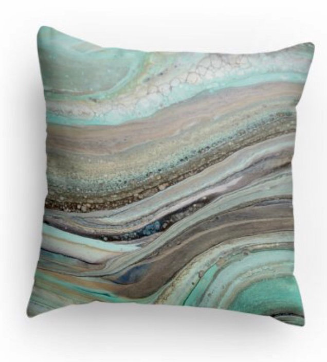 Coastal Decorative Print Pillow