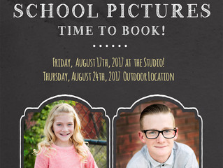 School Pictures | Dates Announced | Angie Clayson Photography