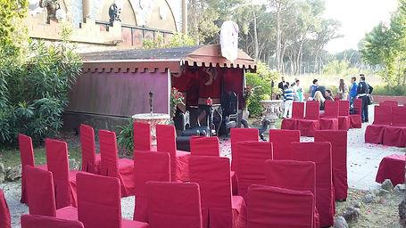 celebracion exterior de la boda