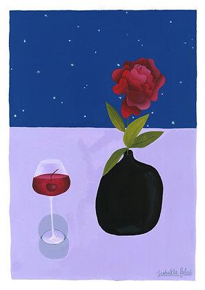 Conversation with a Flower - Original (Approx. A3)