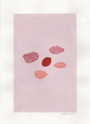 Conchitas, madeleine & litchi - Original (26 x 36 cm)