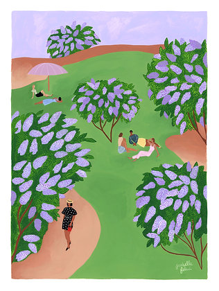 Le temps des lilas - Original (36 x 48 cm)