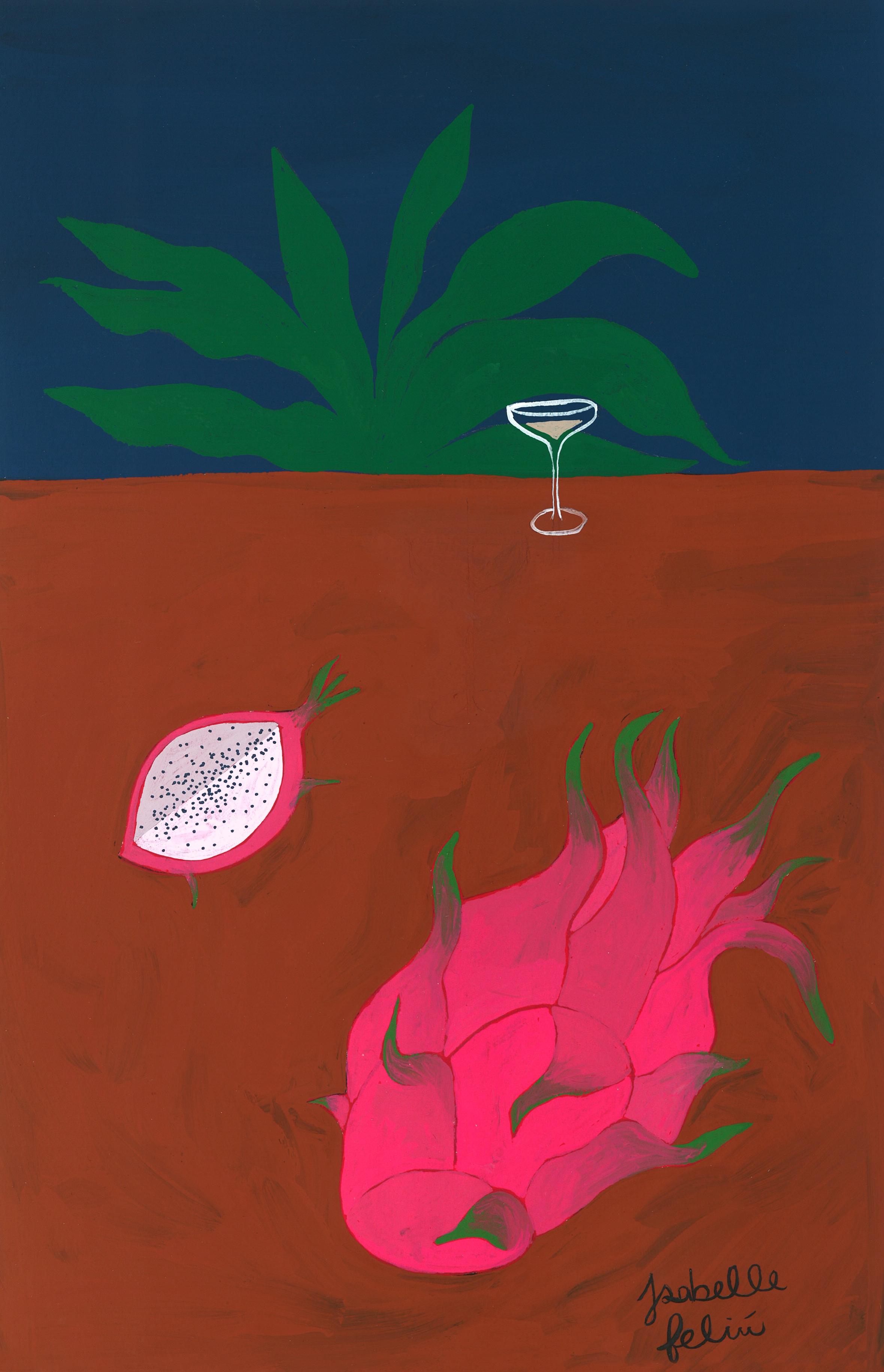 Dragon Fruit & Champagne