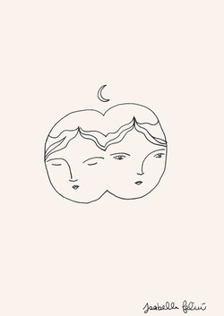 Double face by Isabelle Feliu