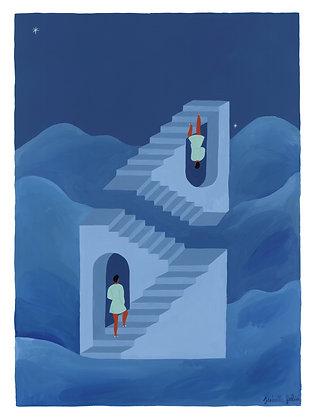 Different Ways to Climb & Unusual Paths - Original (45.5 x 61 cm)