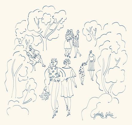 La promenade 👯♀️ - Original (29.7 x 29.7cm)
