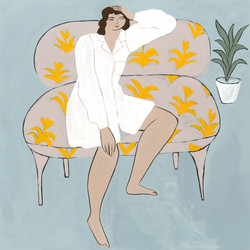 Wonderer on a Couch by Isabelle F