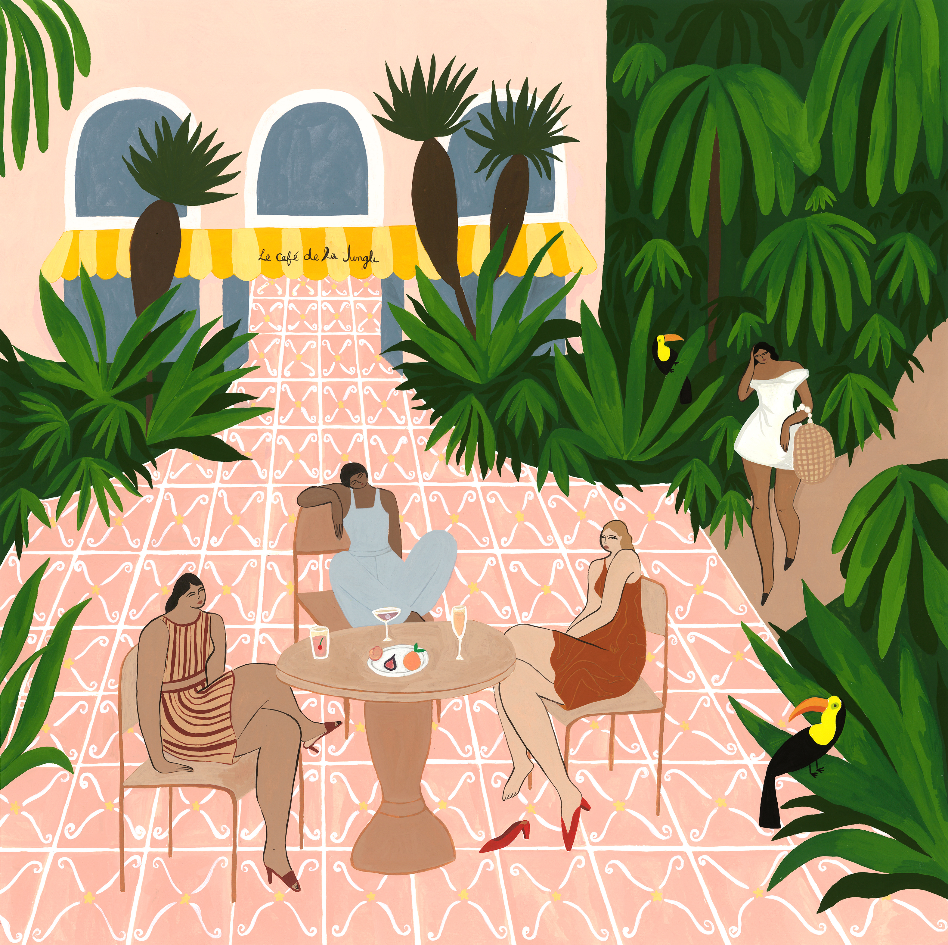 Au Café de la Jungle by Isabelle F