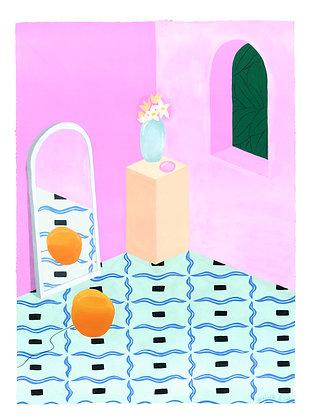 Helle Mardahl Lamp & Vase - Original (45.5 x 61)