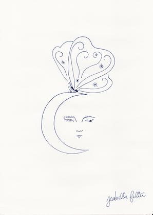 Papillon de nuit 🦋🌙 - Original (A4)