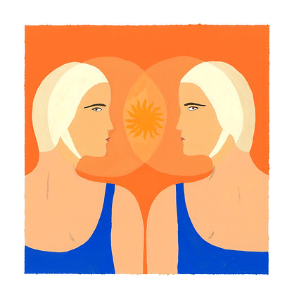 Gemini ♊️ for Marie-Claire France - Original (29.5 x 30 cm)