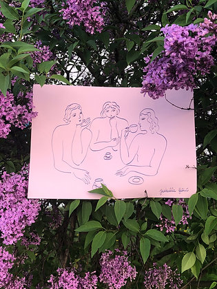 l'Amie Taciturne - Original (A4)