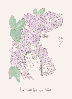 La nostalgie des lilas Print