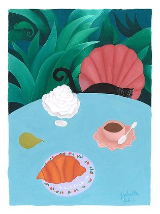 The Succulent Garden Café 🦎☕️ - Original (36 x 48 cm)
