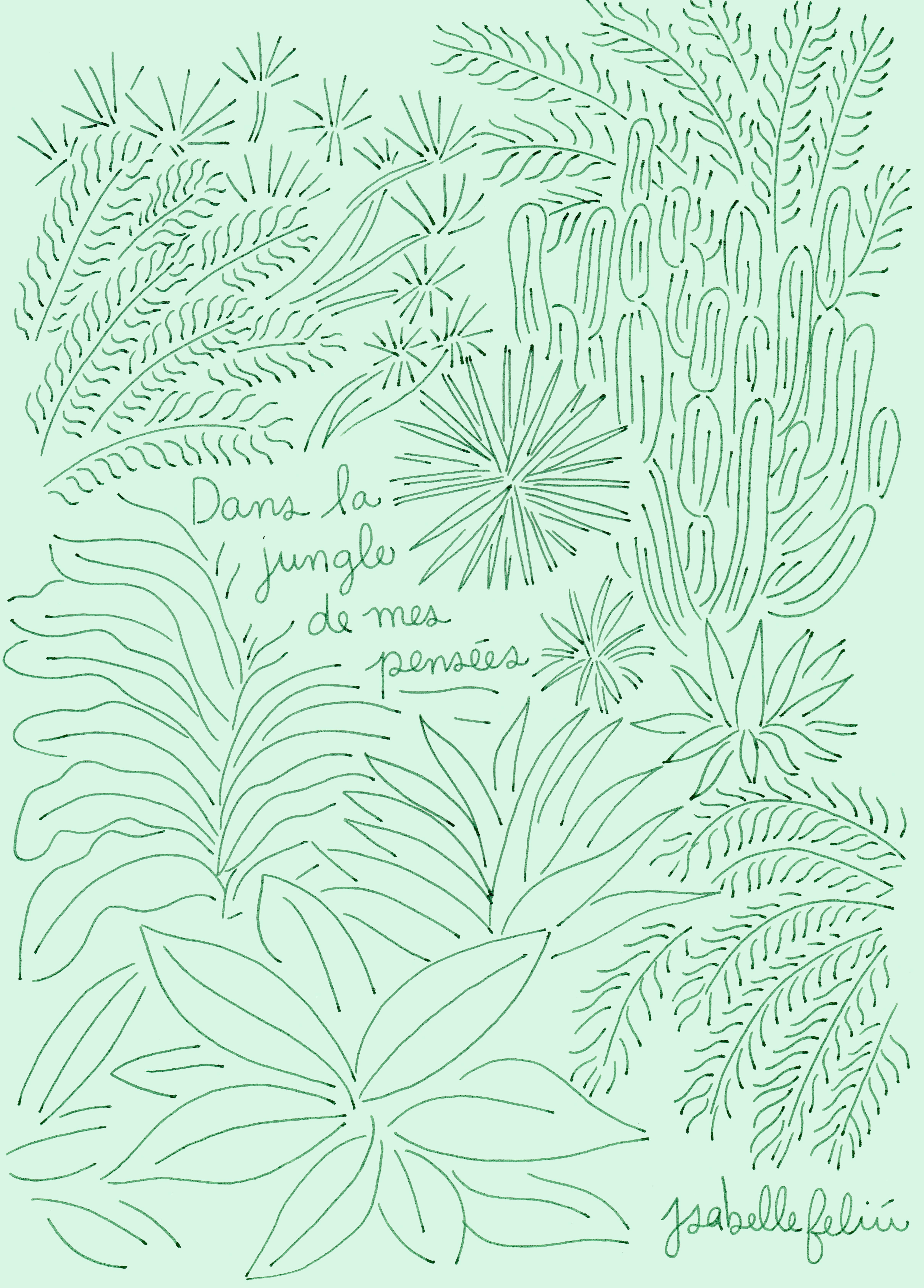 La_jungle_de_mes_pensées_print_bleu