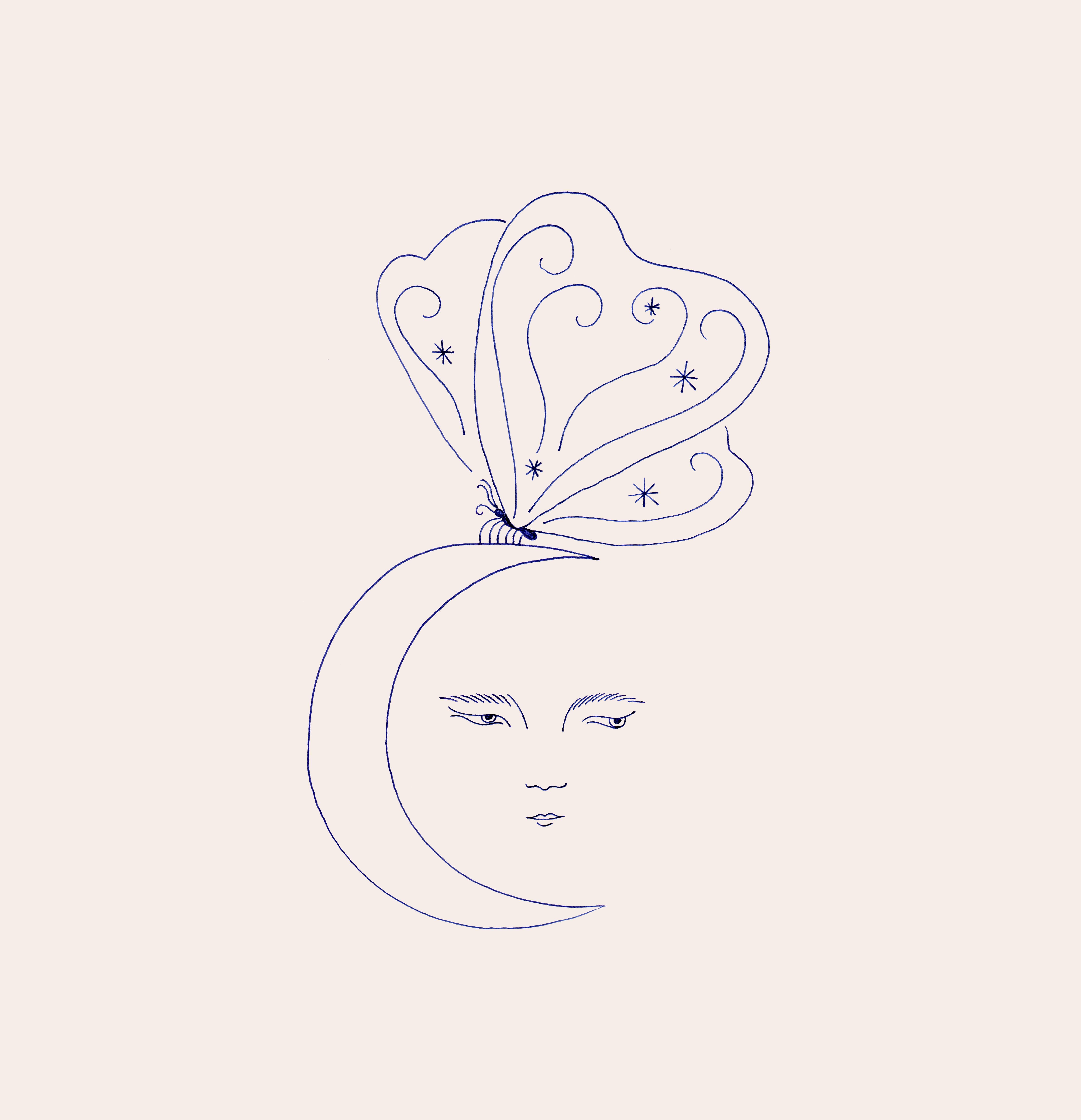 Papillon de nuit carré
