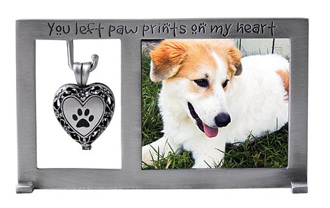 pf404 pawprints dog memorial frame