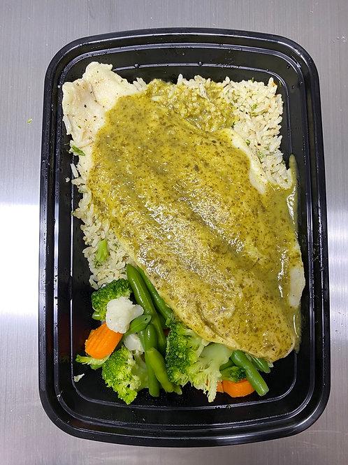Cilantro lime Cod fish