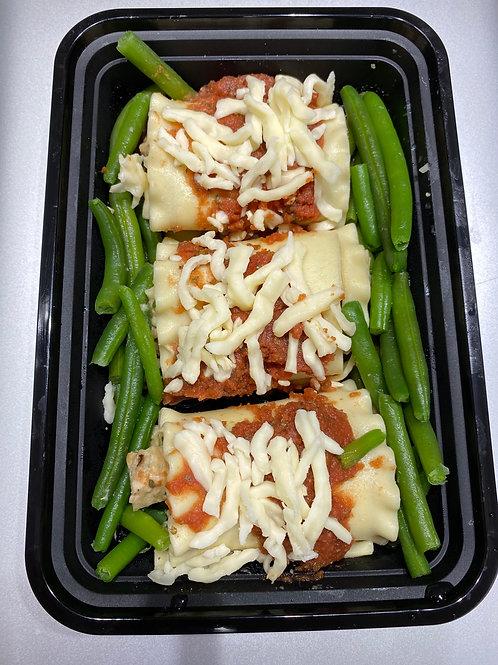 Italian chicken rolls lasagna