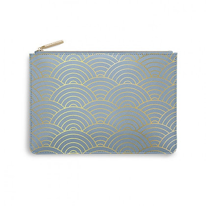 Wave Print Perfect Pouch