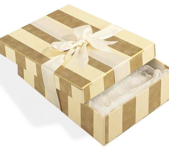 Gold Wedding Dress Box   Empty Box   Willow Bridal