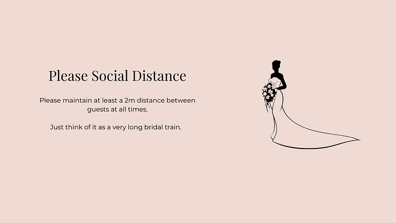 Please Socially Distance Instore | Willow Bridal | Premium Bridal Boutique