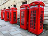 Red BT Phone Boxes | Willow Bridal