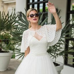Hollywood Boulevard Cape | Ivory & Co Bridal