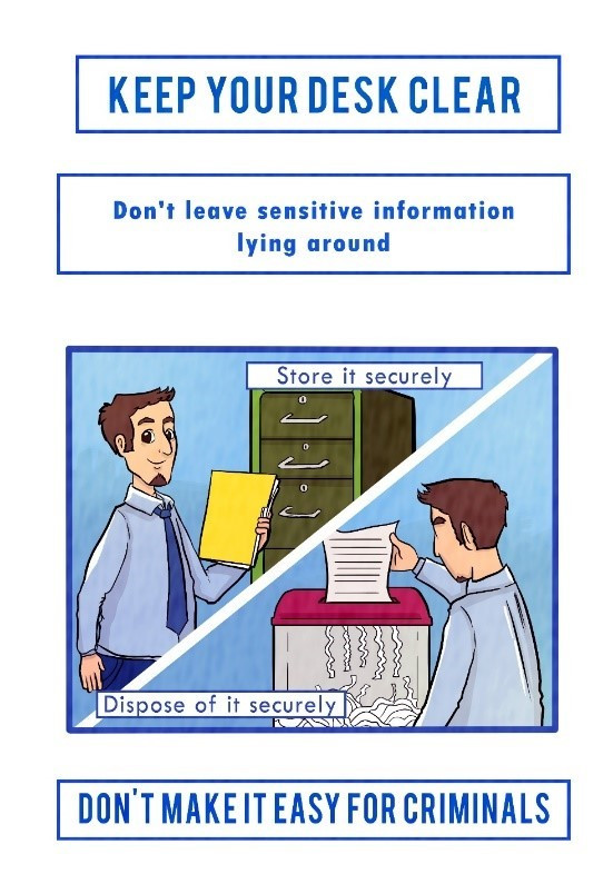 Don't leave sensitive information lying around!