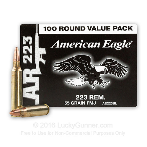 copy of DONATE  150 Rounds -223 Rem - 55 Grain FMJ - Federal American Eagle