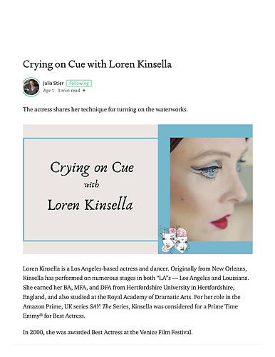 Crying on Cue with Loren Kinsella - Play