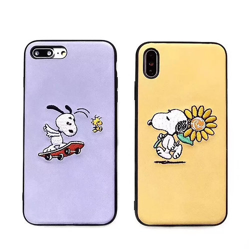 COVER SNOOPY RICAMATO
