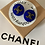 Thumbnail: ORECCHINO BLU ELETTRICO/ARGENTO CHANEL