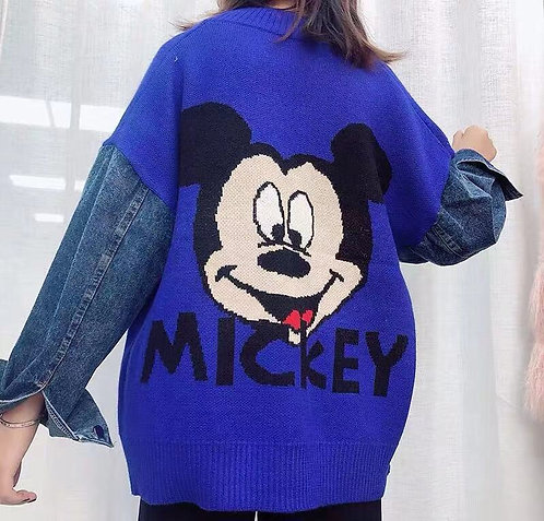 CARDIGAN DENIM MICKEY MAGLIA/DENIM