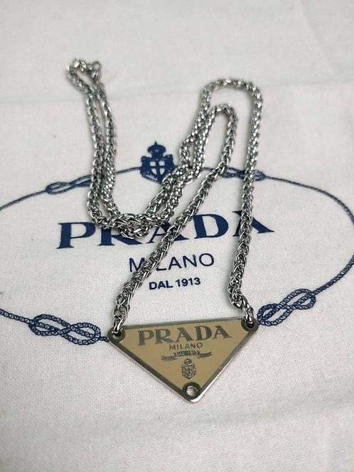 COLLANA REWORKED PRADA OCRA/ARGENTO