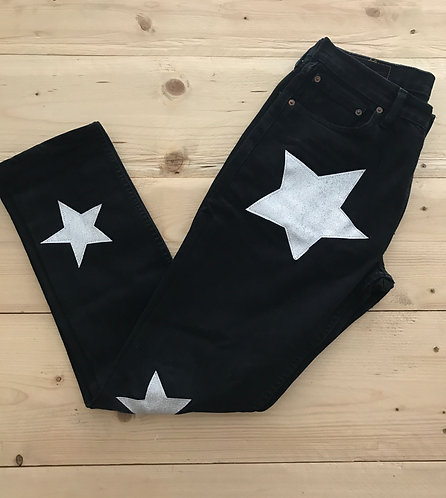 OUTLET - JEANS NERO MODELLO STARS TG.32