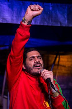 Rapper Criolo na Ocupação 9 de julho